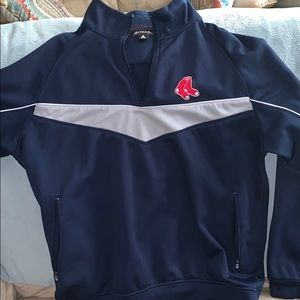 Large men's Red Sox sweatshirt half zip